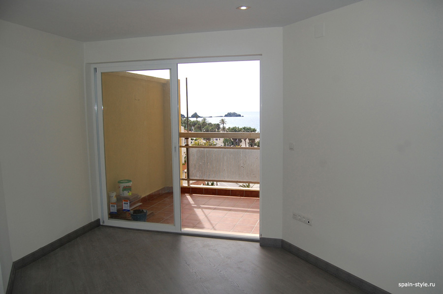 First line Sea view apartment with one bedroom in  Almuñecar,  Living room