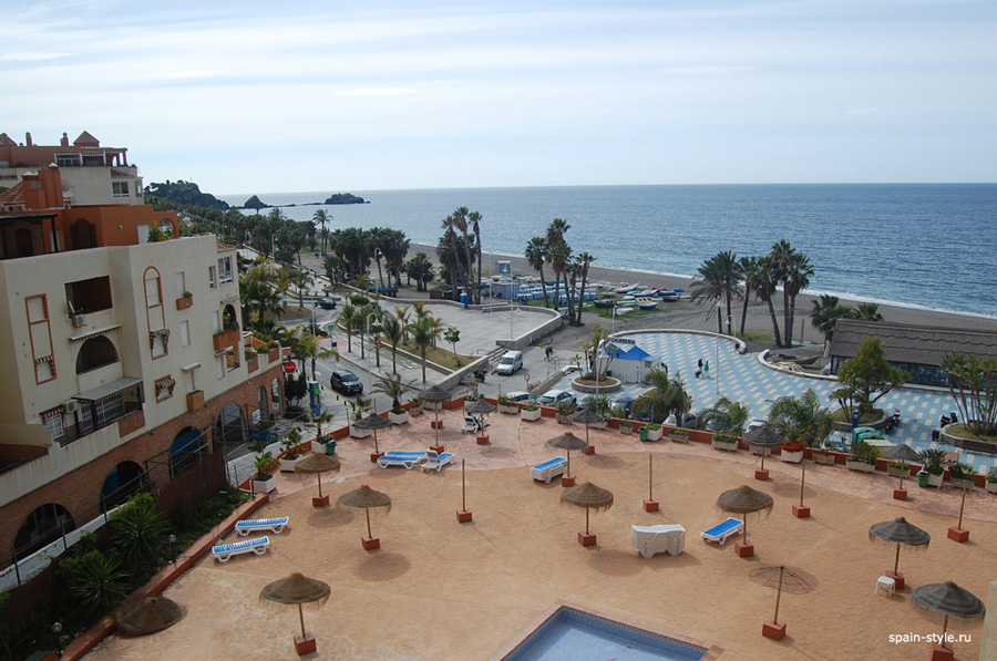 First line Sea view apartment with one bedroom in  Almuñecar, Sea view balcon