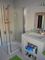 Bathroom with shower, Holiday seaview villa in Benalmádena for 12 people