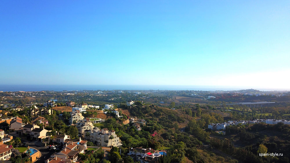 Panoramic views to the  Costa del Sol.