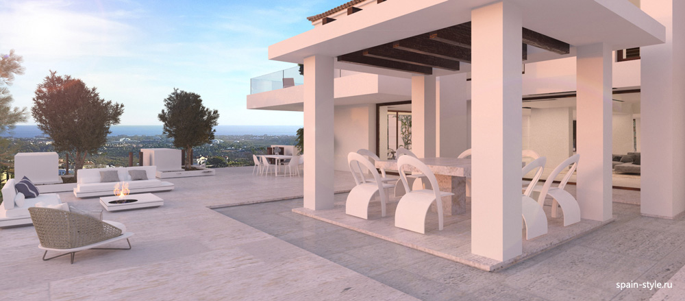 New villa in Benahavís with mountain views, Terrace