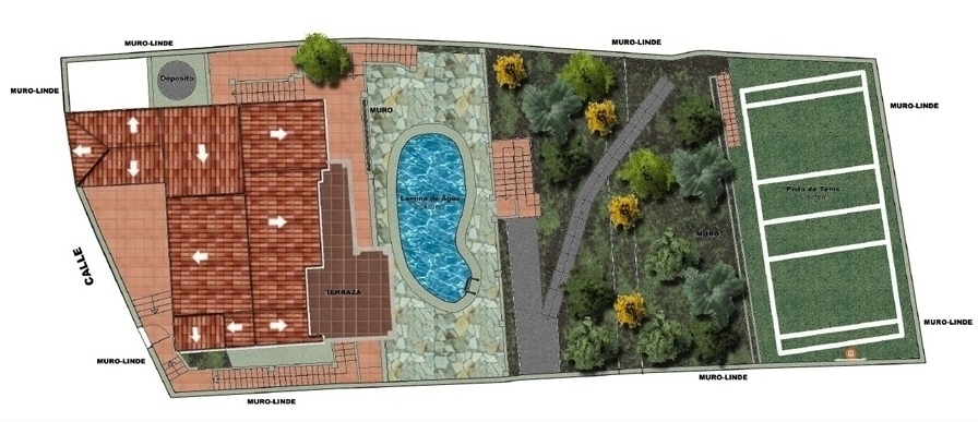 Plot plan, Seaview villa in Punta Lara, Nerja