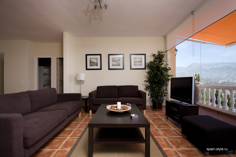 Seaview villa in Punta Lara, Nerja  , Living room