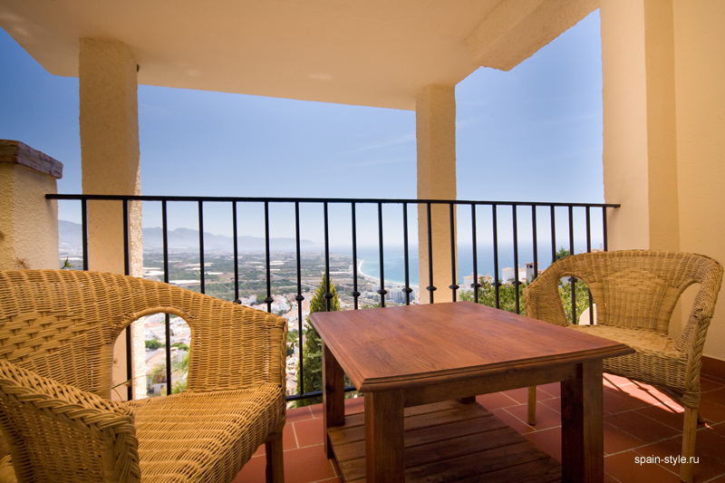Terrace, Seaview villa in Punta Lara, Nerja