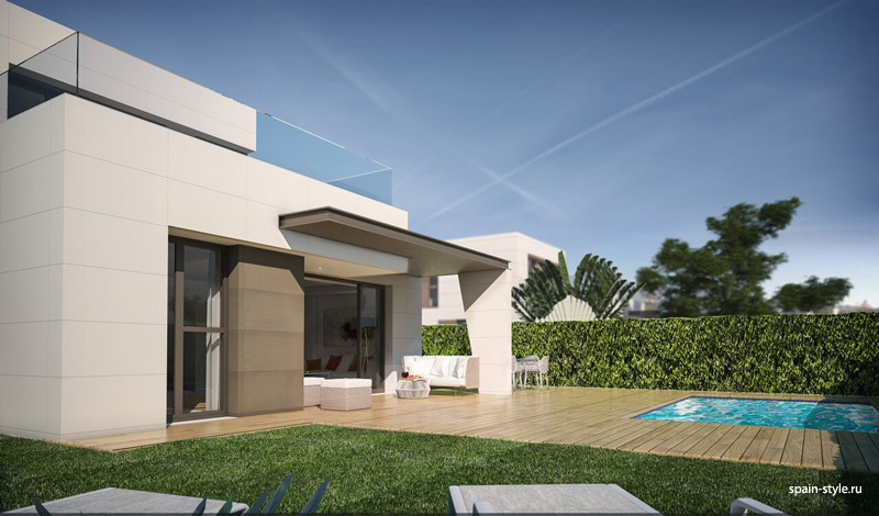 Pool, Modern villas for sale in Torre del Mar