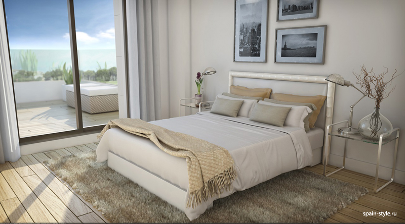 Bedroom, Modern villas for sale in Torre del Mar