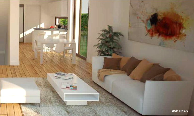 Living room,      Modern villas for sale in Torre del Mar