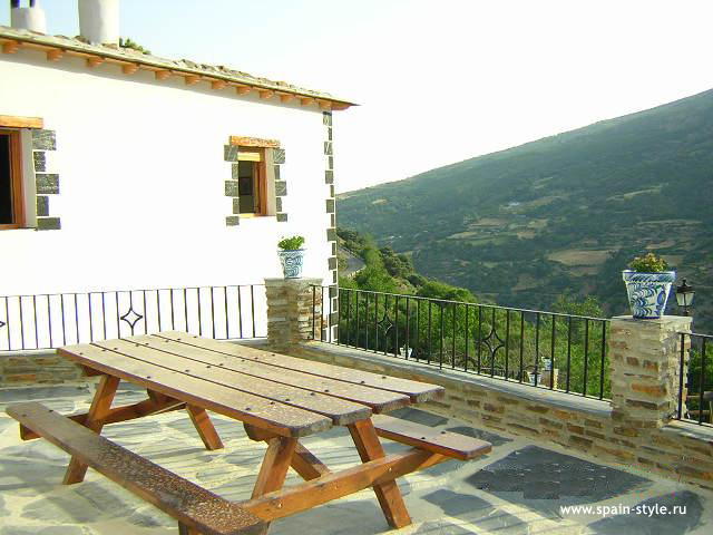 Terrace, Rural  house  for sale in Trevélez, the Alpujarra