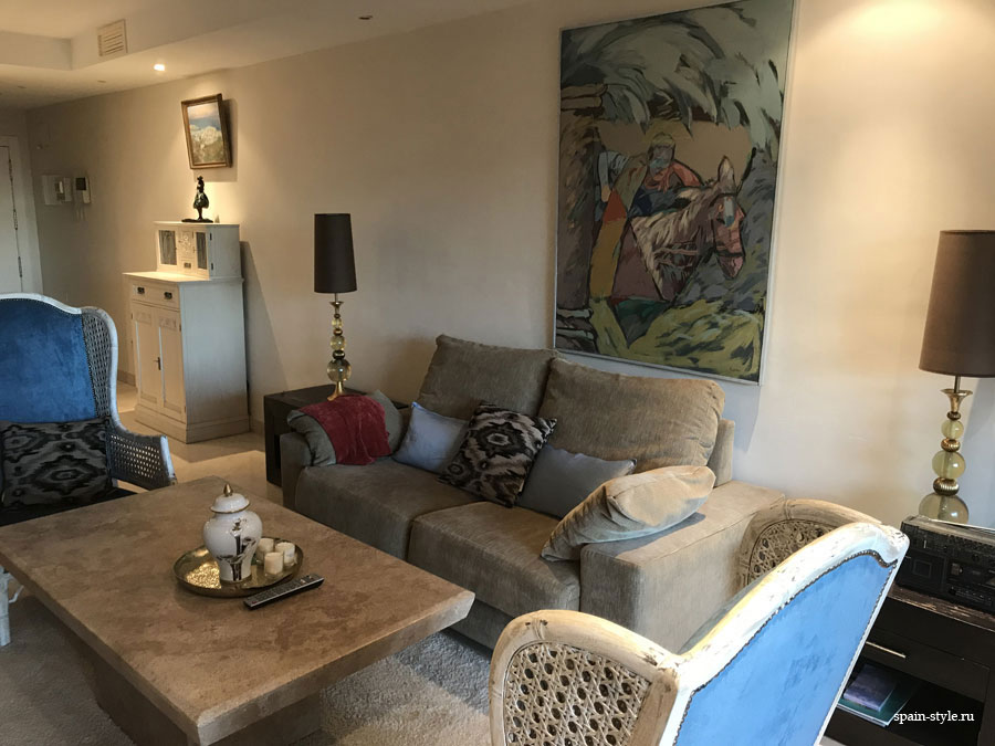 Apartment for rent in Marbella, Golden Mile, Living room