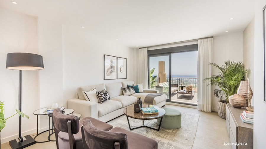 Living room, Apartments and Penthouses direct from Developer in Benahavís