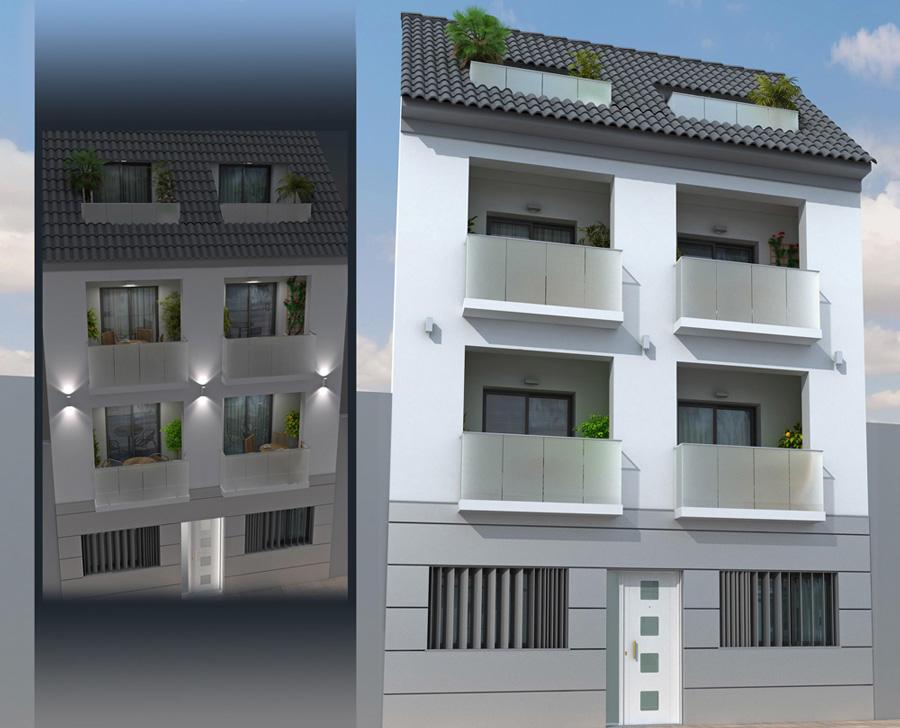 Fachada pisos de nueva construcci n en fuengirola - Pisos de nueva construccion ...