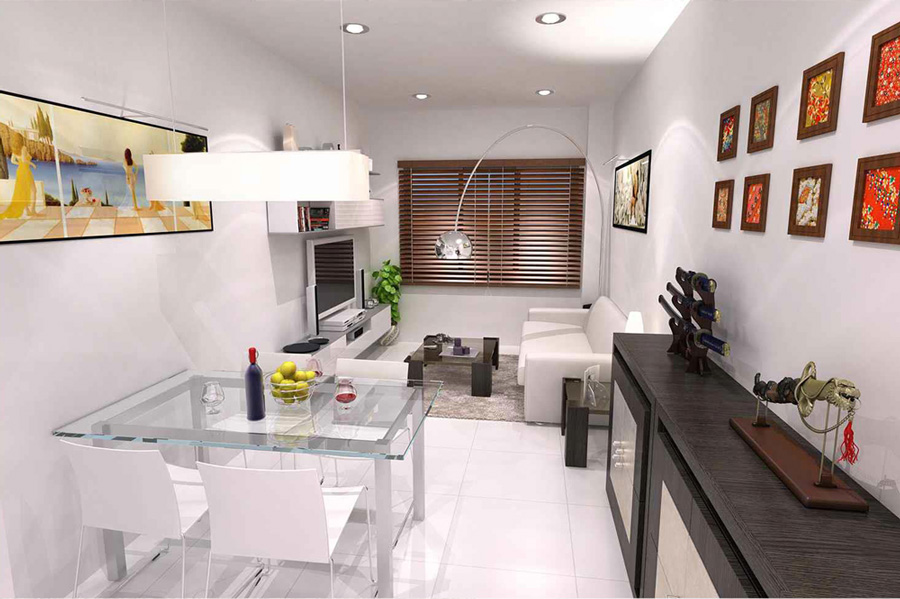 Living room, ground floor, apartment BajoA,   New apartments in Fuengirola