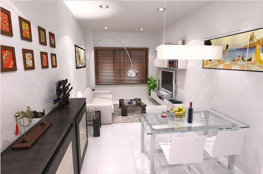 Living room, ground floor, apartment BajoB, New apartments in Fuengirola