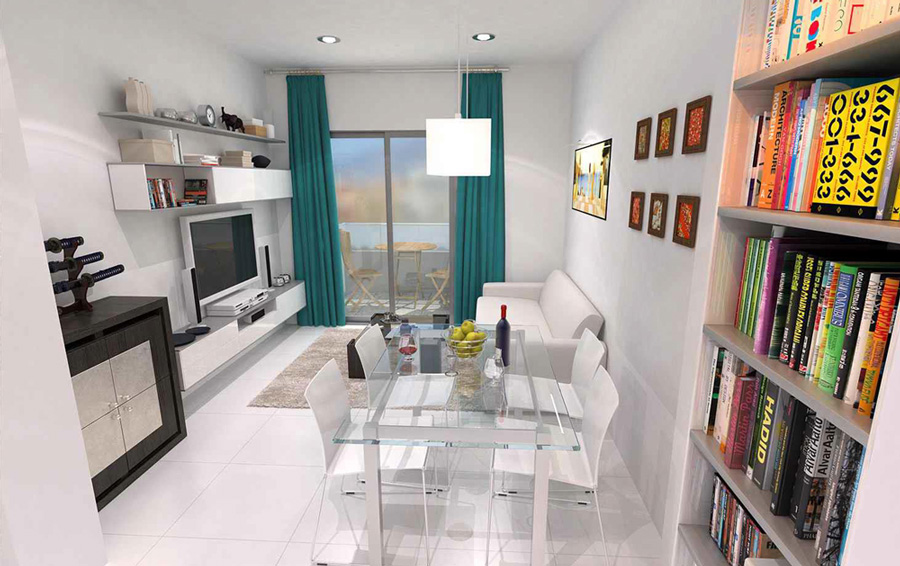 Living room, second floor, apartment 2 B, New apartments in Fuengirola
