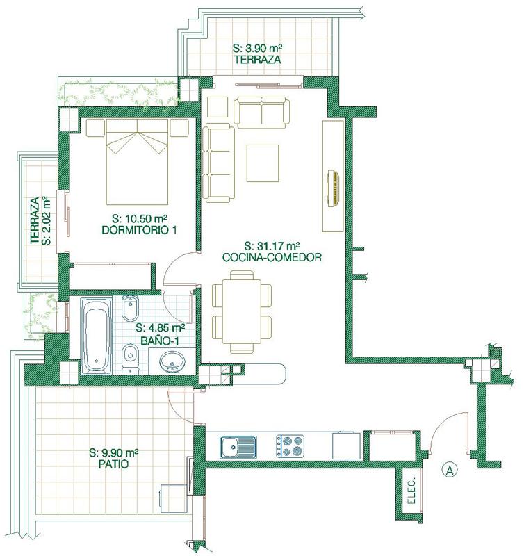 Piso En Venta 3 Dormitorios Torre El Mar Málaga Unicasa: Apartamentos En Plano Torre Ks Apv2828