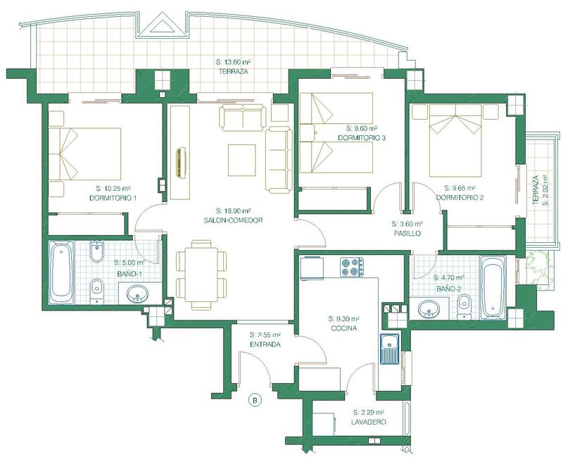 Plano Piso 3 Beautiful Formato Piso Recursos Humanos Gerente - Planos-de-pisos-de-3-dormitorios