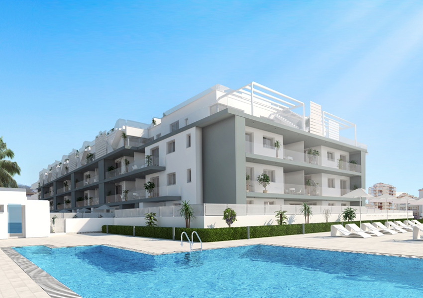 Pool, First line Sea View Apartments and Penthouses direct from Developer in Torrox, Malaga
