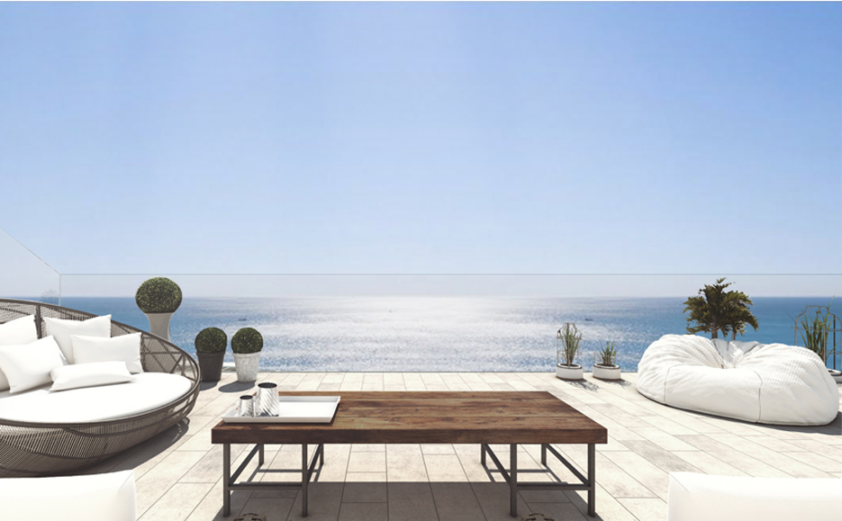 Penthouse terrace,  First line Sea View Apartments and Penthouses direct from Developer in Torrox, Malaga