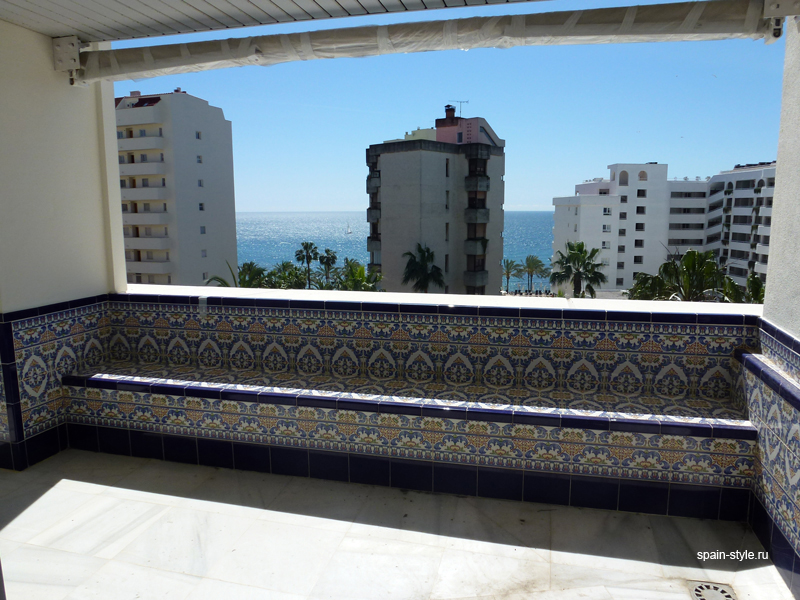 Terrace, Luxury apartment for sale  in the center of Marbella