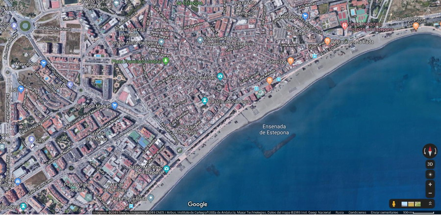 Estepona en Google map