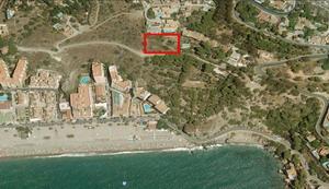 Расположение на карте участка под строительство бизнес проекта в Альмуньекаре